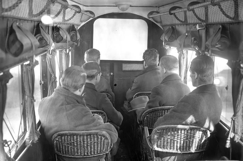 The first commercial flight