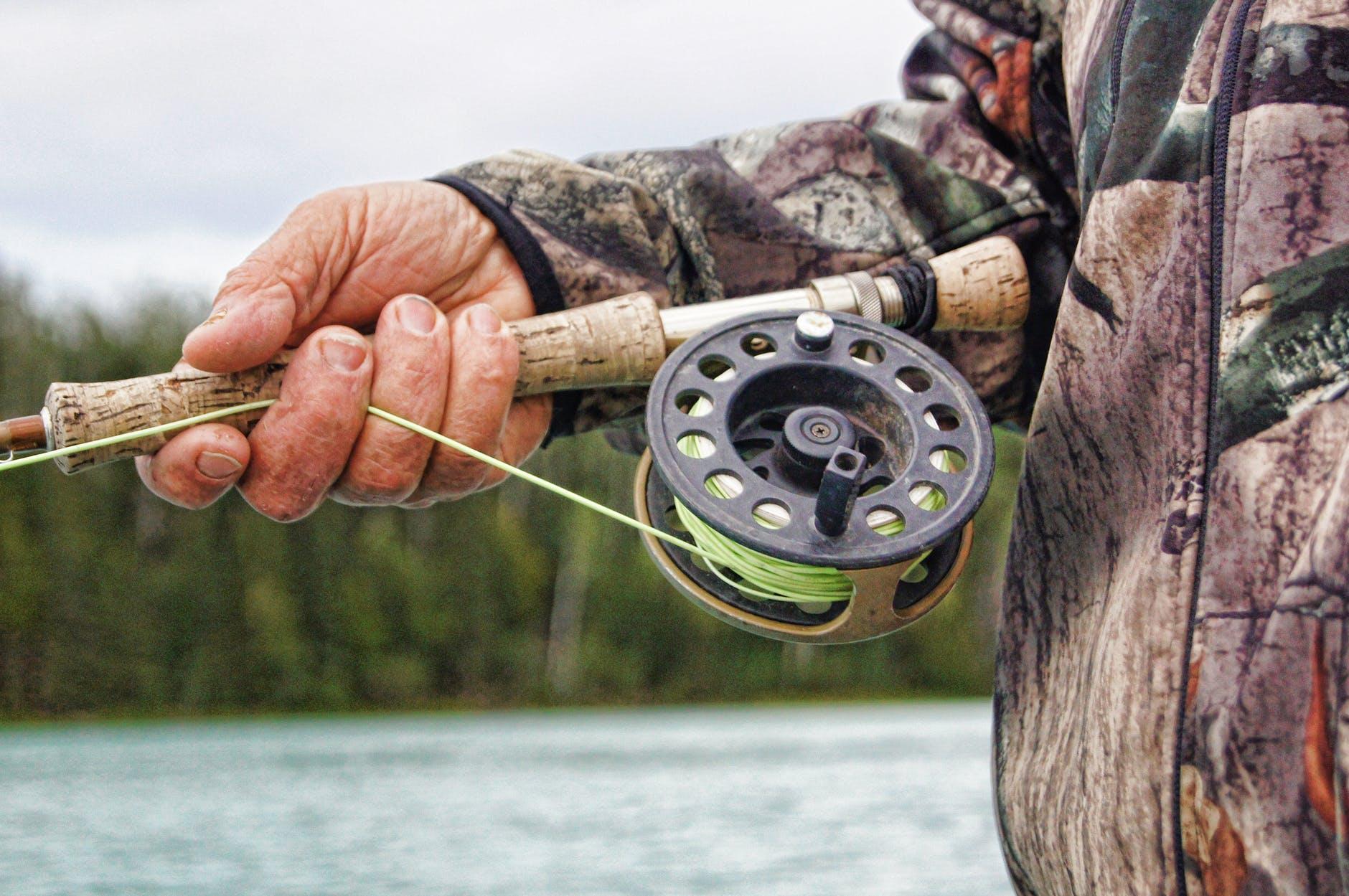 fishing landscape nature man